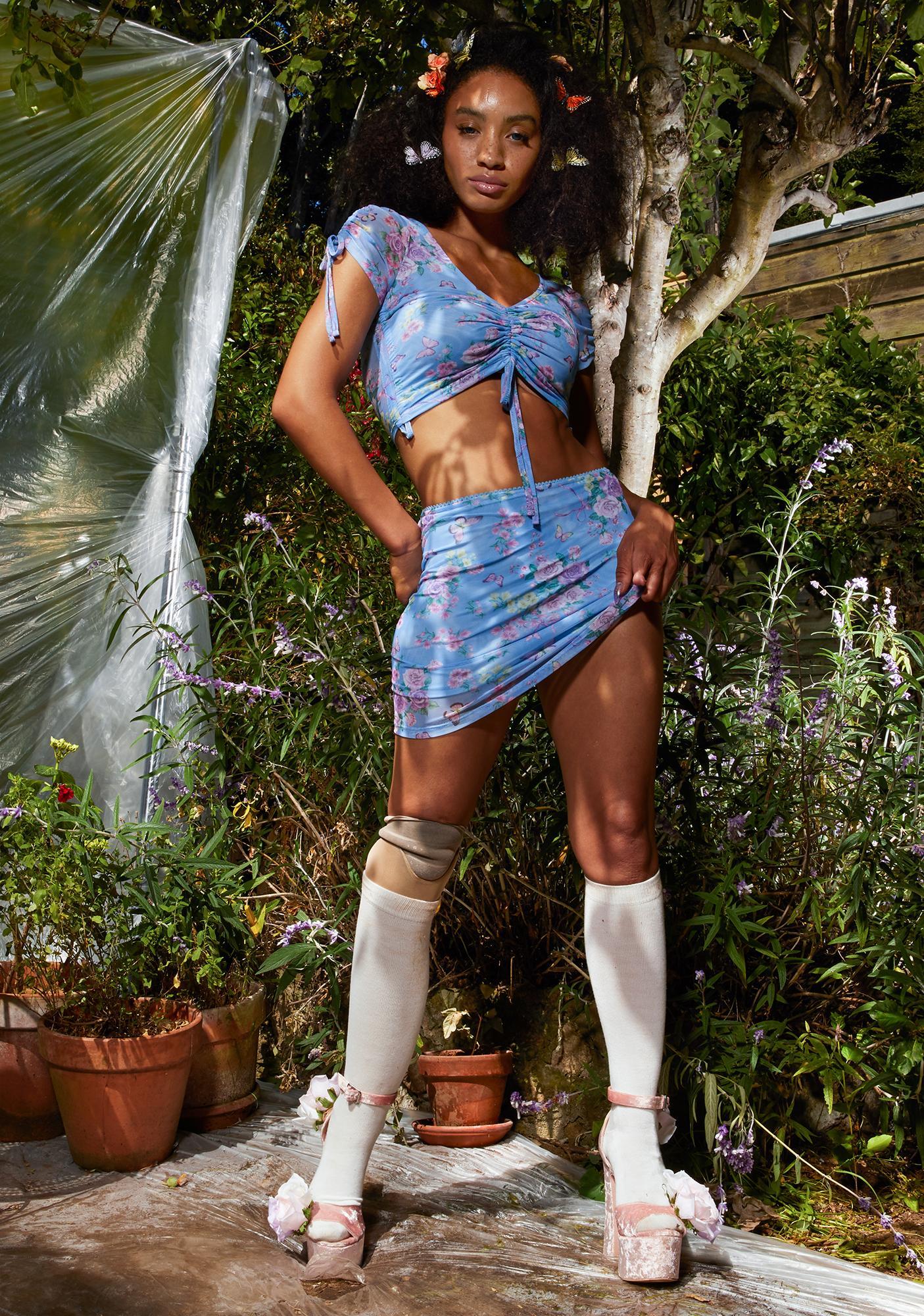 Sugar Thrillz Finding Eden Mesh Skirt