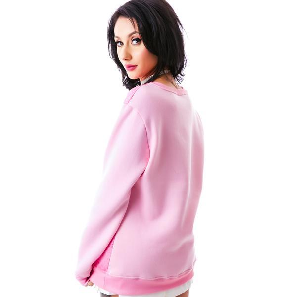 Dimepiece Real Men Wear Pink Sweatshirt