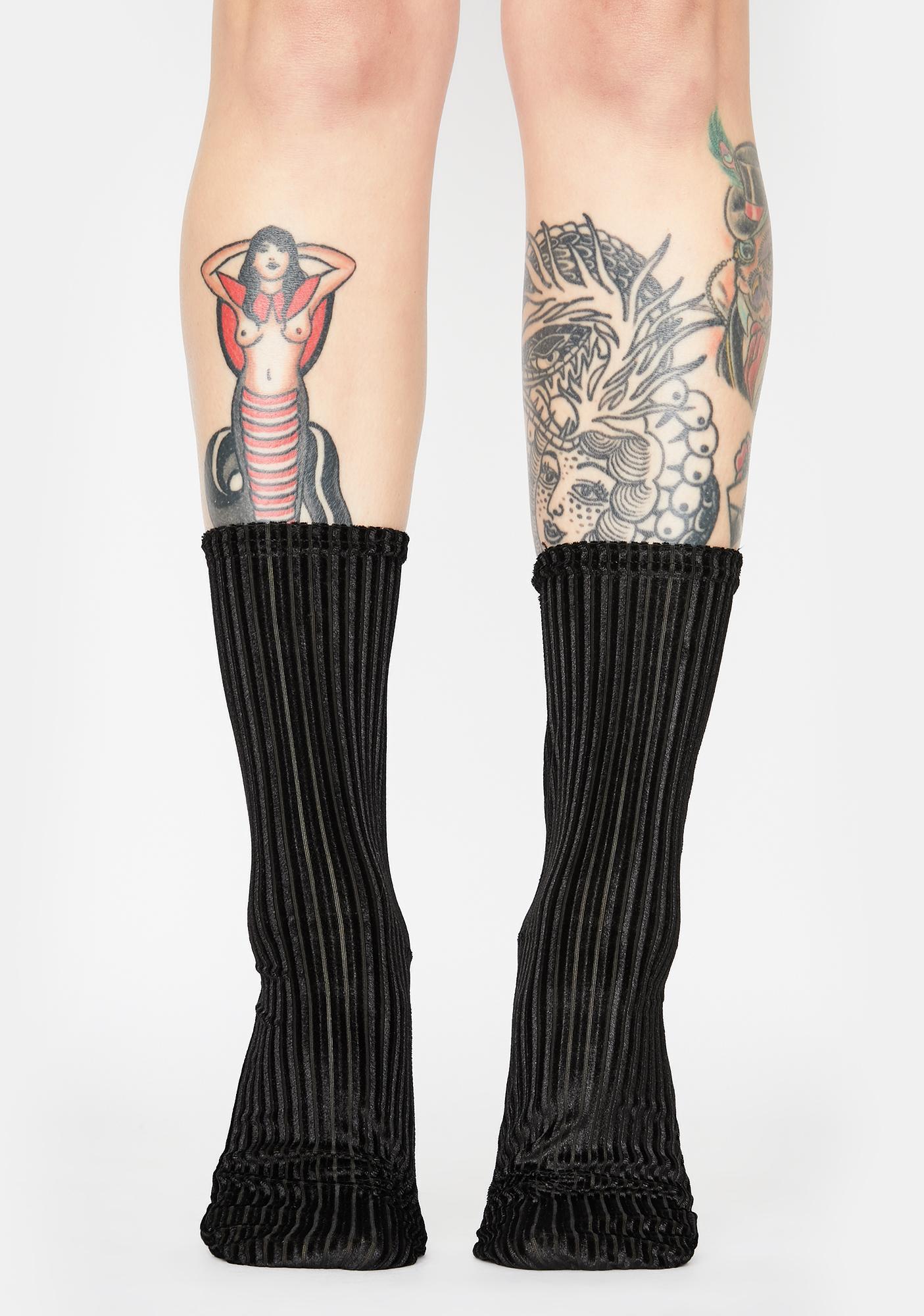Free People Trixie Velvet Socks