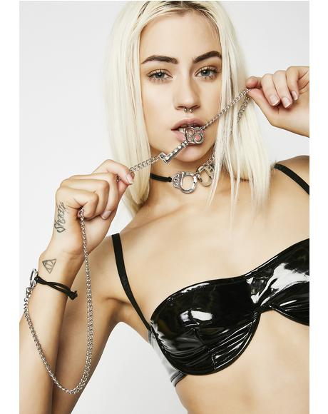 Under Lock N' Key Bondage Choker