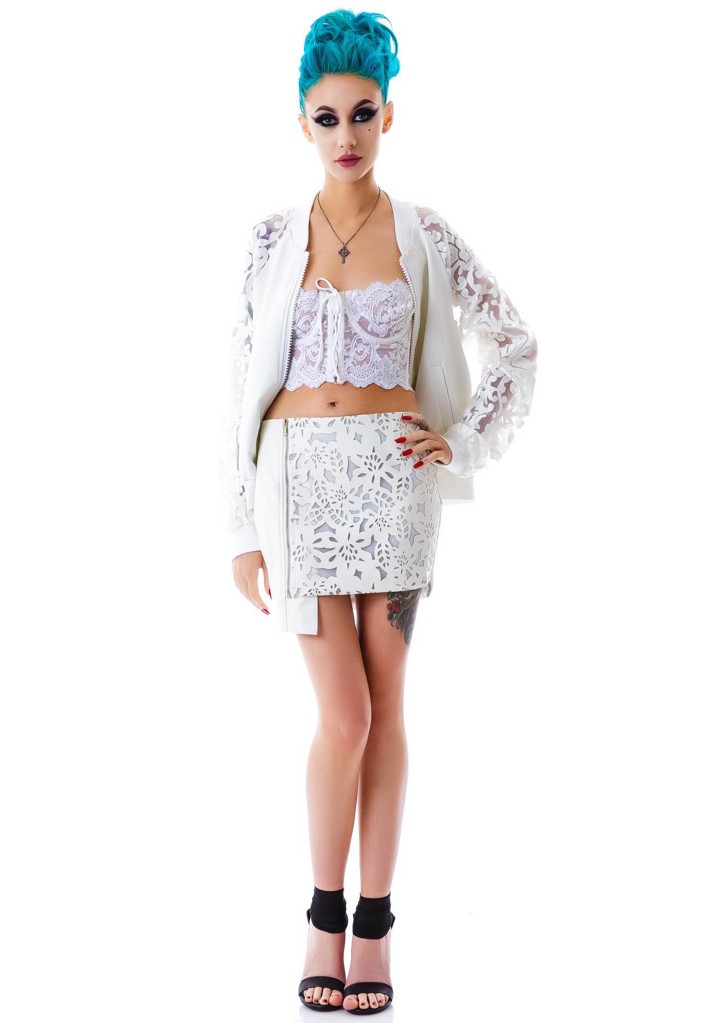 Azalea Veggie Leather Skirt