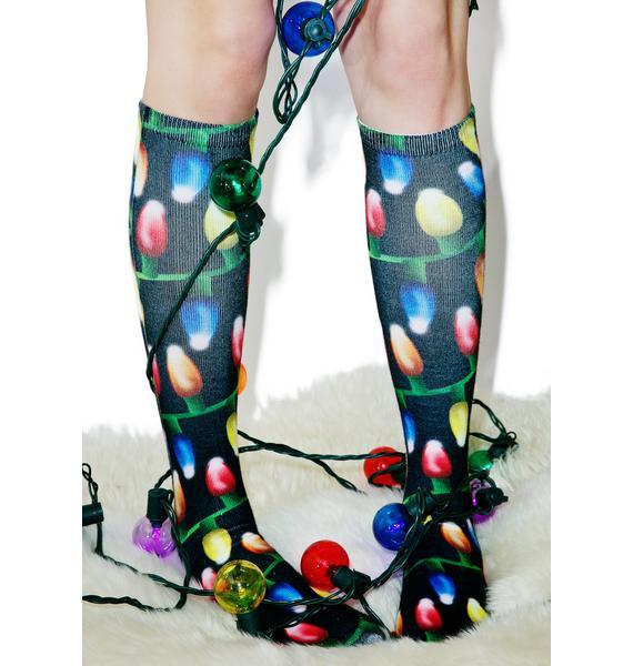Bright Lights Knee Socks
