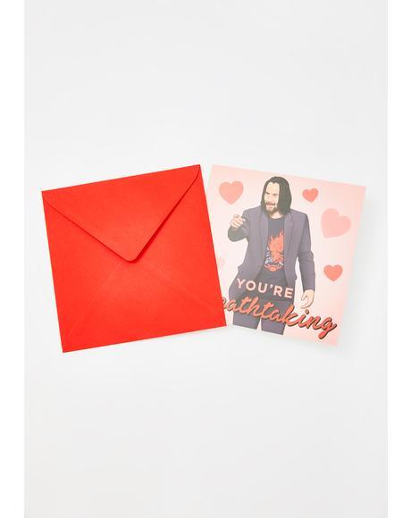 Keanu Reeves Breathtaking Birthday Card