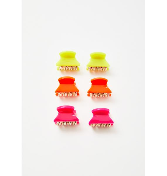 Neon Sass Hair Clips Set