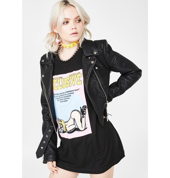 EXCLUSIVE DELIVERY CO. Catwoman Cover Tee