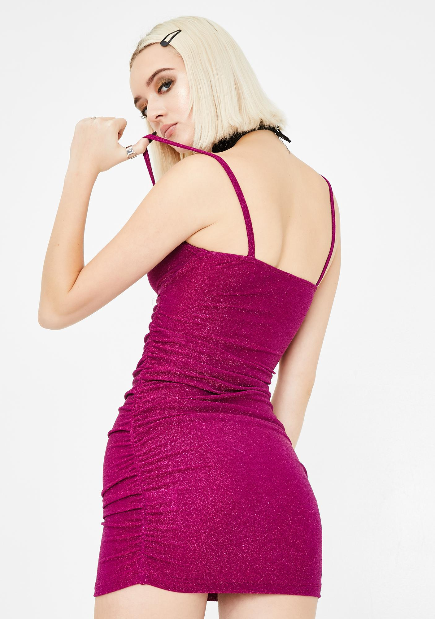 Motel Fuchsia Vada Bodycon Dress