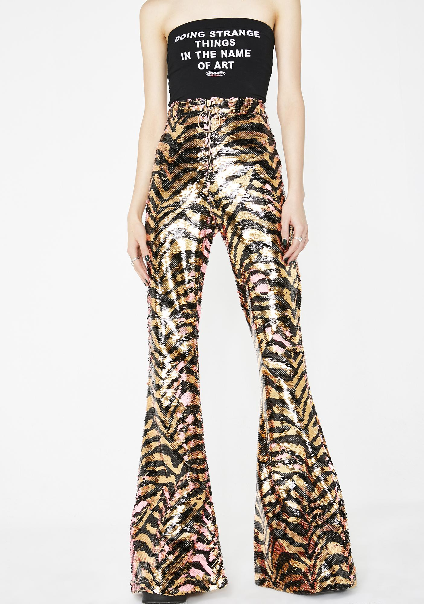 Elsie & Fred Tina Reverse Sequin Party Flares