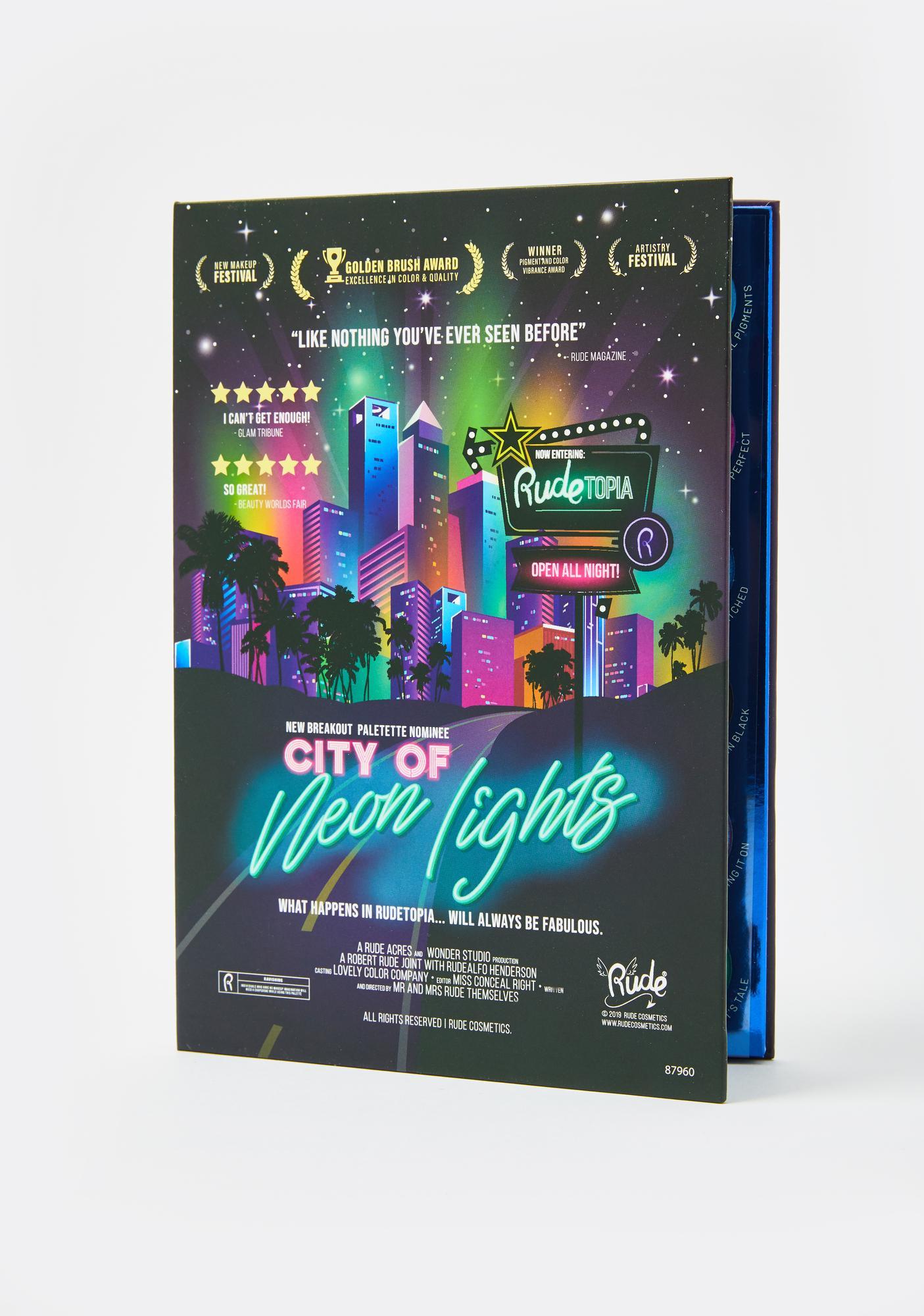 Rude Cosmetics City Of Neon Lights Eyeshadow Palette