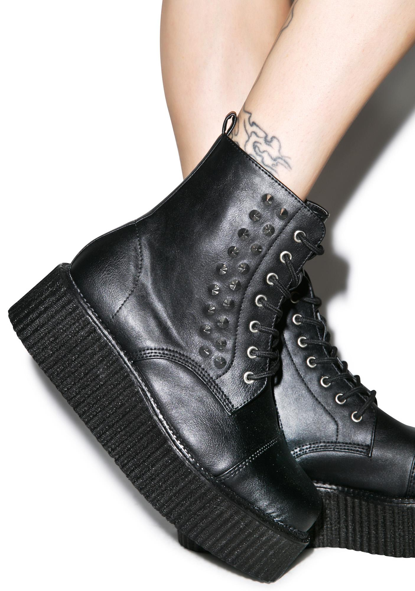 Demonia Studded Creeper Boots