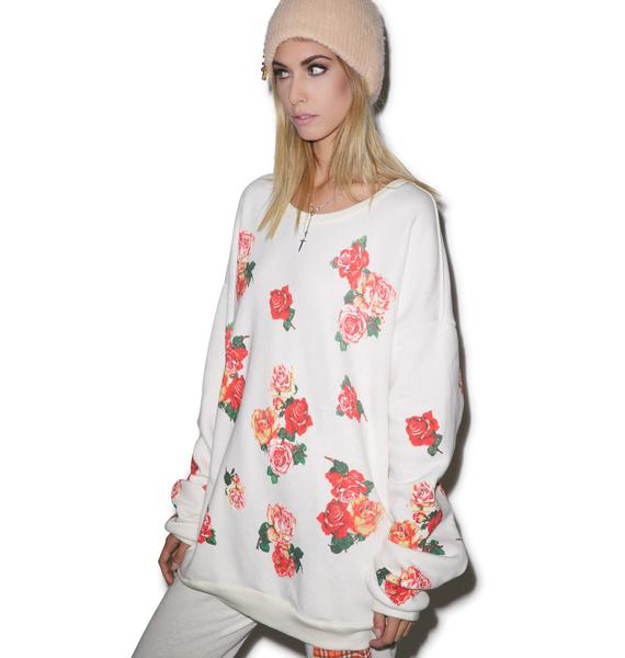 Wildfox Couture Rose Collage Barefoot Sweater