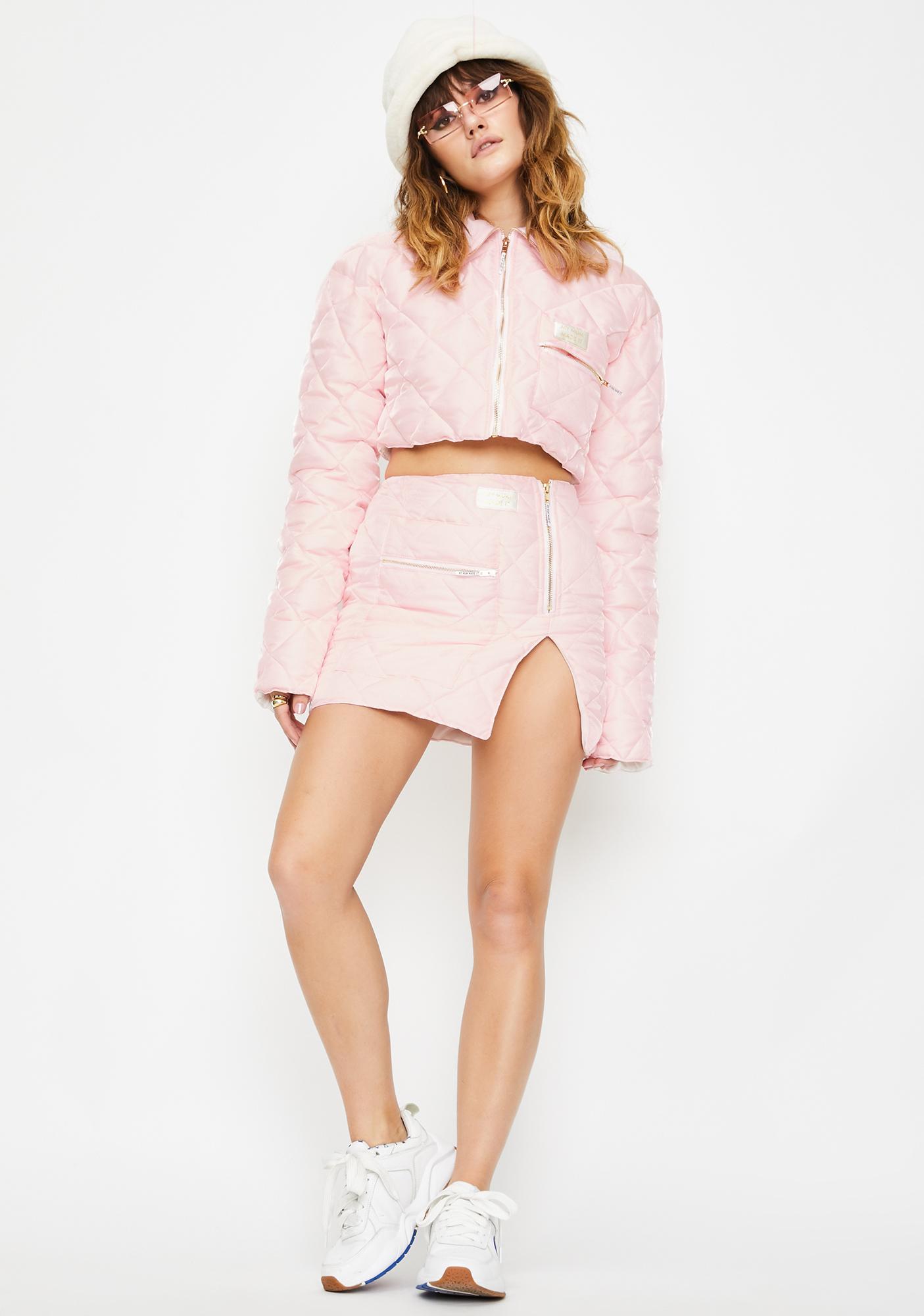 My Mum Made It Quilted Organza Puffer Skirt