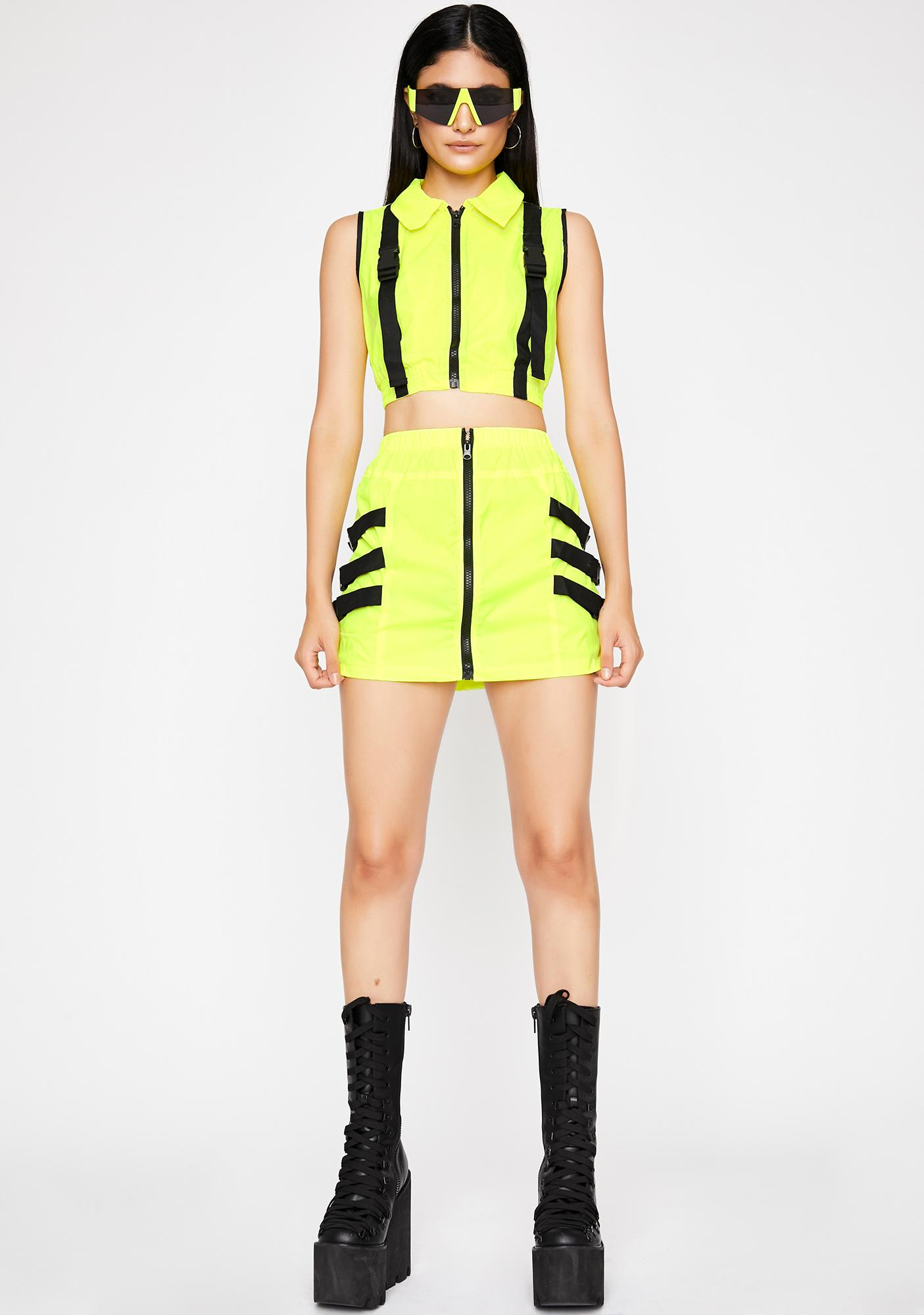 Electric Solar Thangz Skirt Set