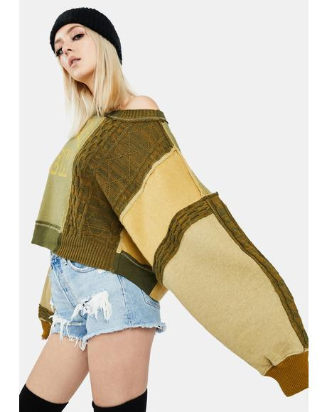 Stateside Pullover Patchwork Sweatshirt