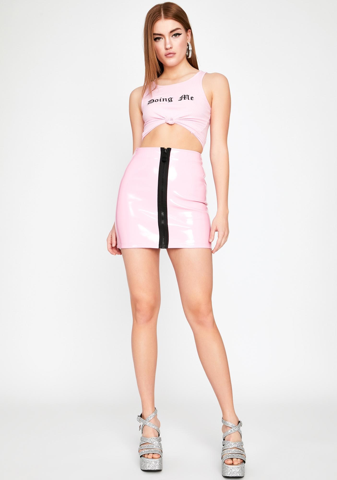Posh Addiction Vinyl Skirt