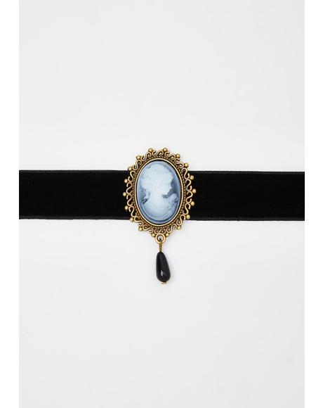 Antique Memory Cameo Choker