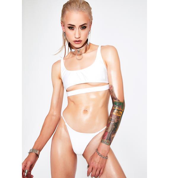 RIS-K White Spell Bikini Bottoms