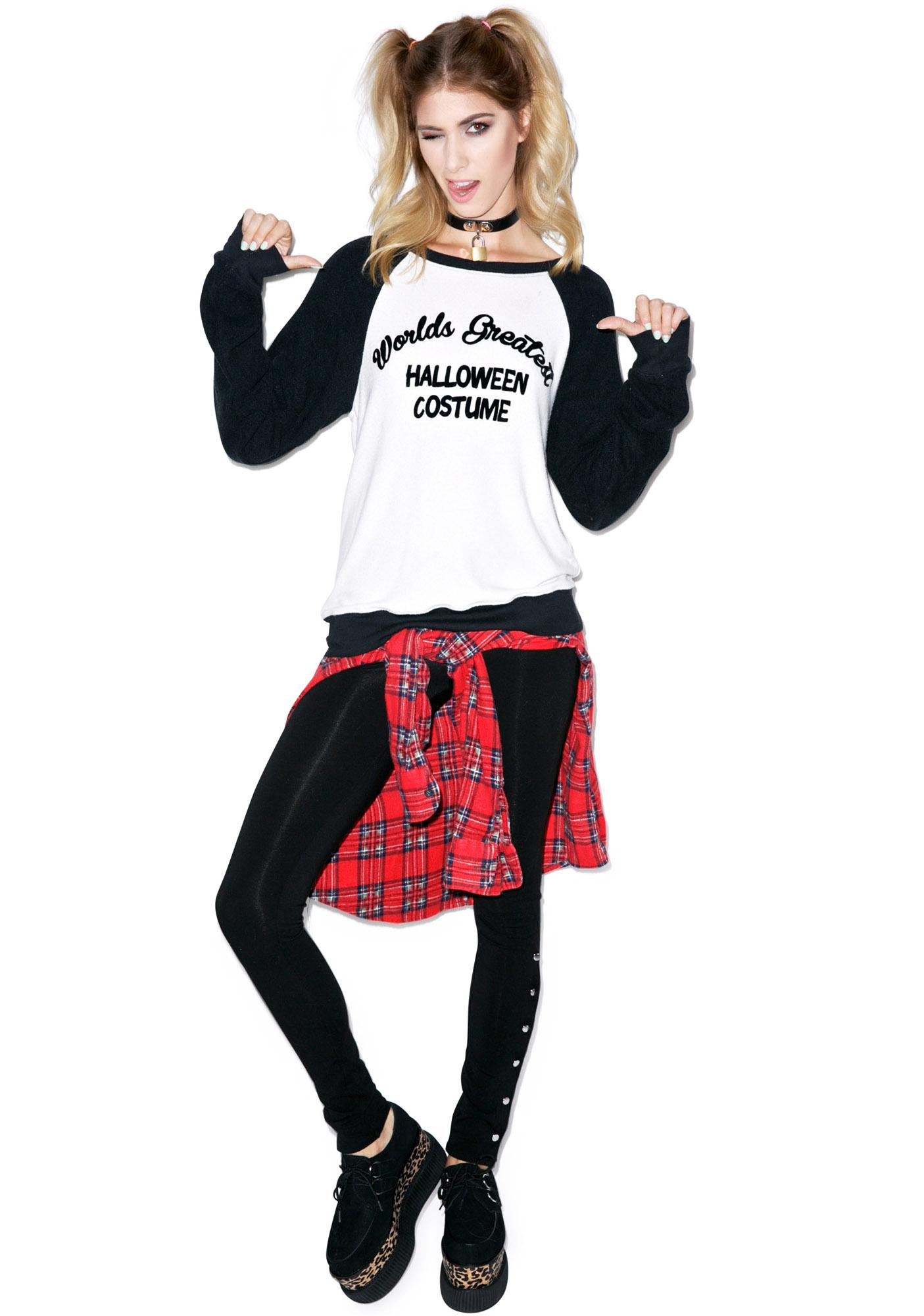 Wildfox Couture Howl At The Moon Baggy Beach Raglan