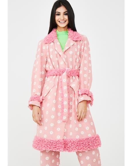 Daisy Print Mac Coat