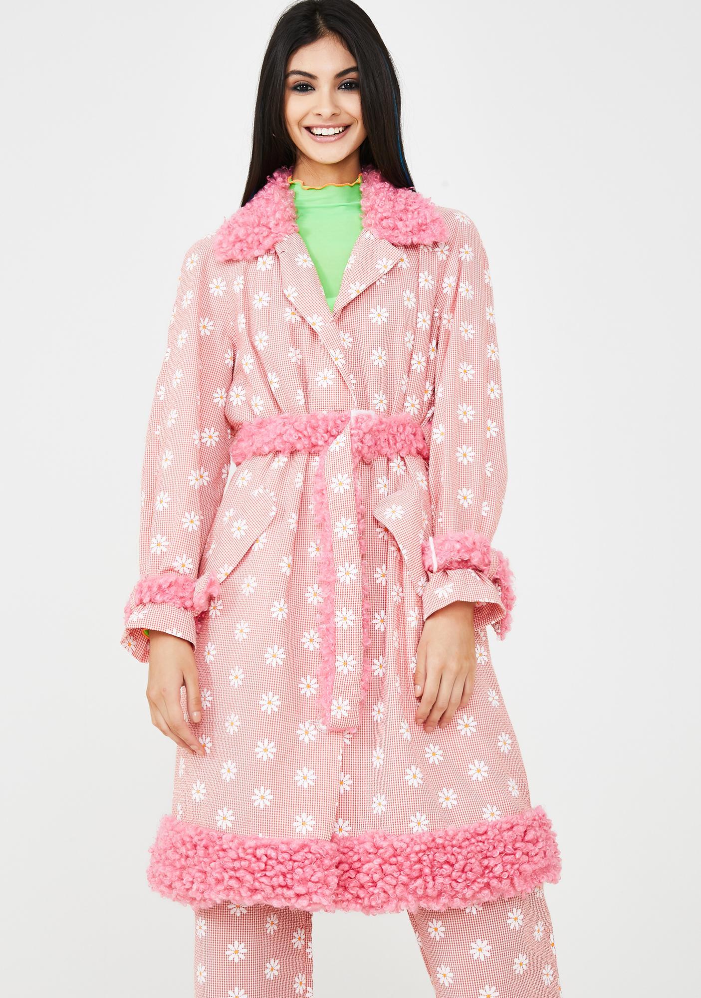 Somewhere Nowhere Daisy Print Mac Coat