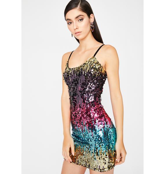 Jade Unicorn Realness Sequin Dress