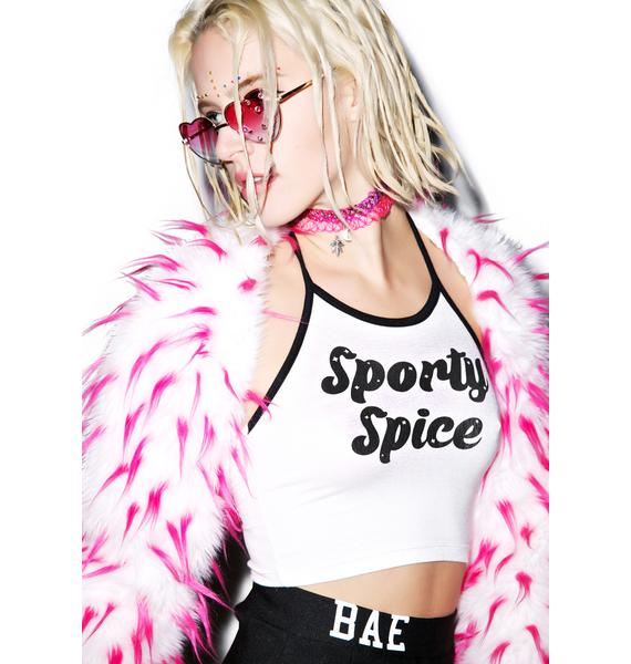 O Mighty Sporty Spice Halter Top