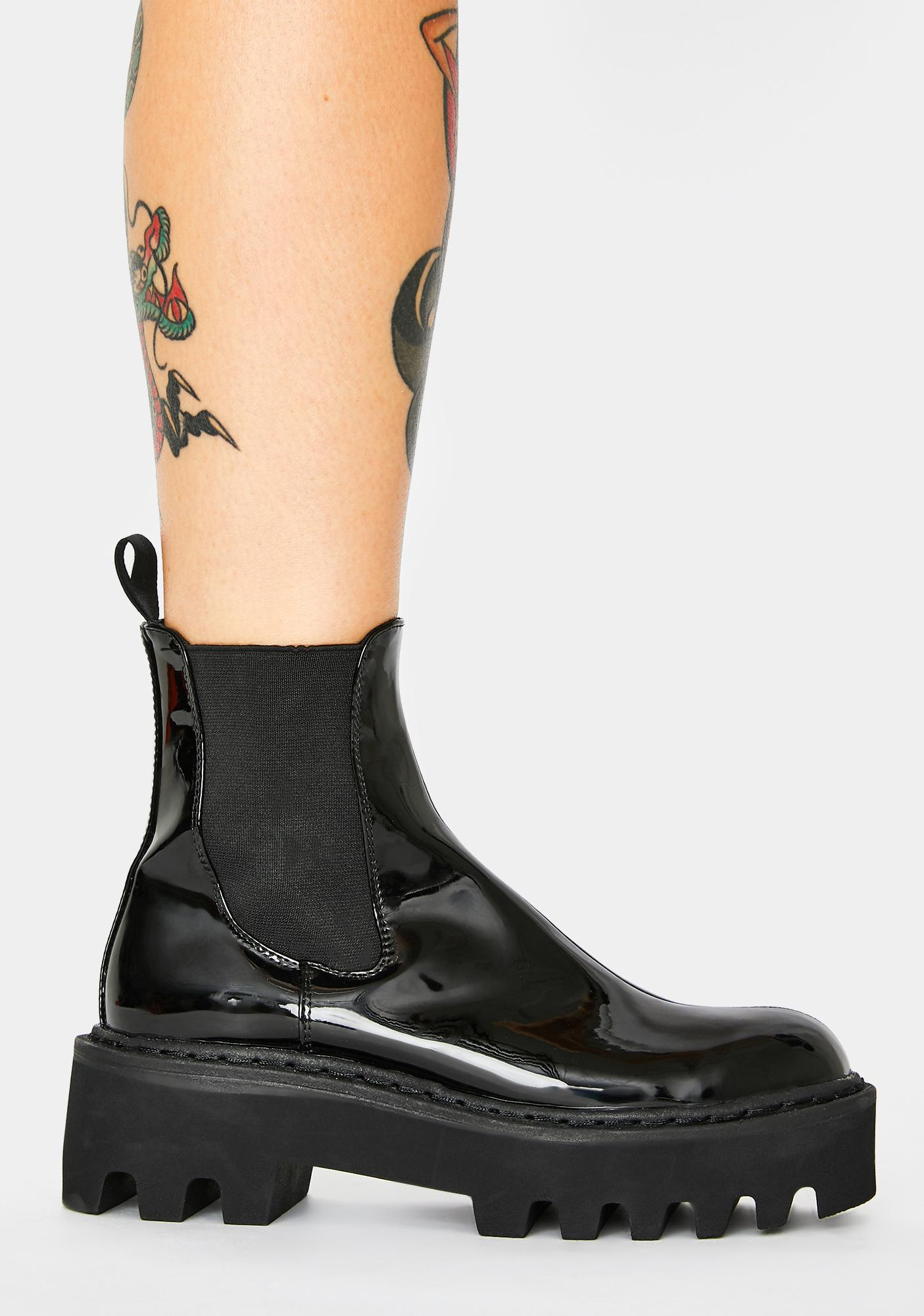 Lamoda Patent Whistler Chelsea Boots