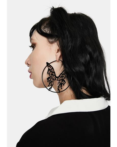 For The Stars Butterfly Hoops