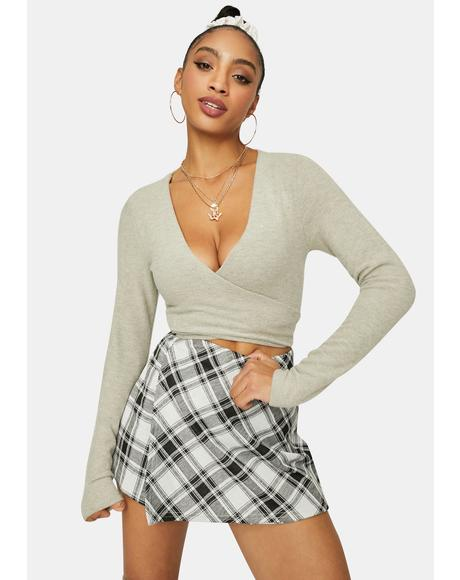 No Surprise Wrap Crop Top