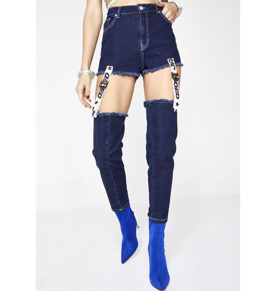 Jaded London Tape & Buckle Jeans