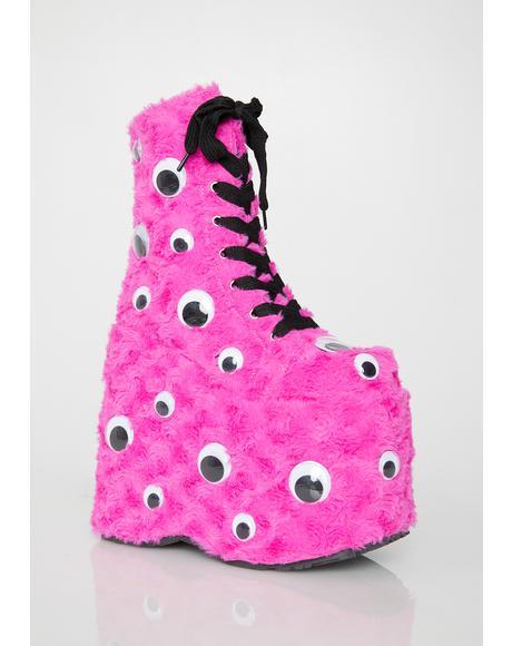 Pixie I C U UV Reactive Platform Boots