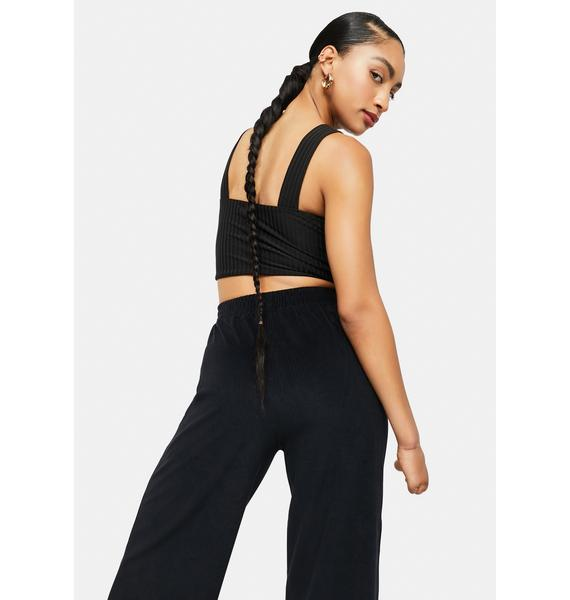 Left On Read Ribbed Bralette Top