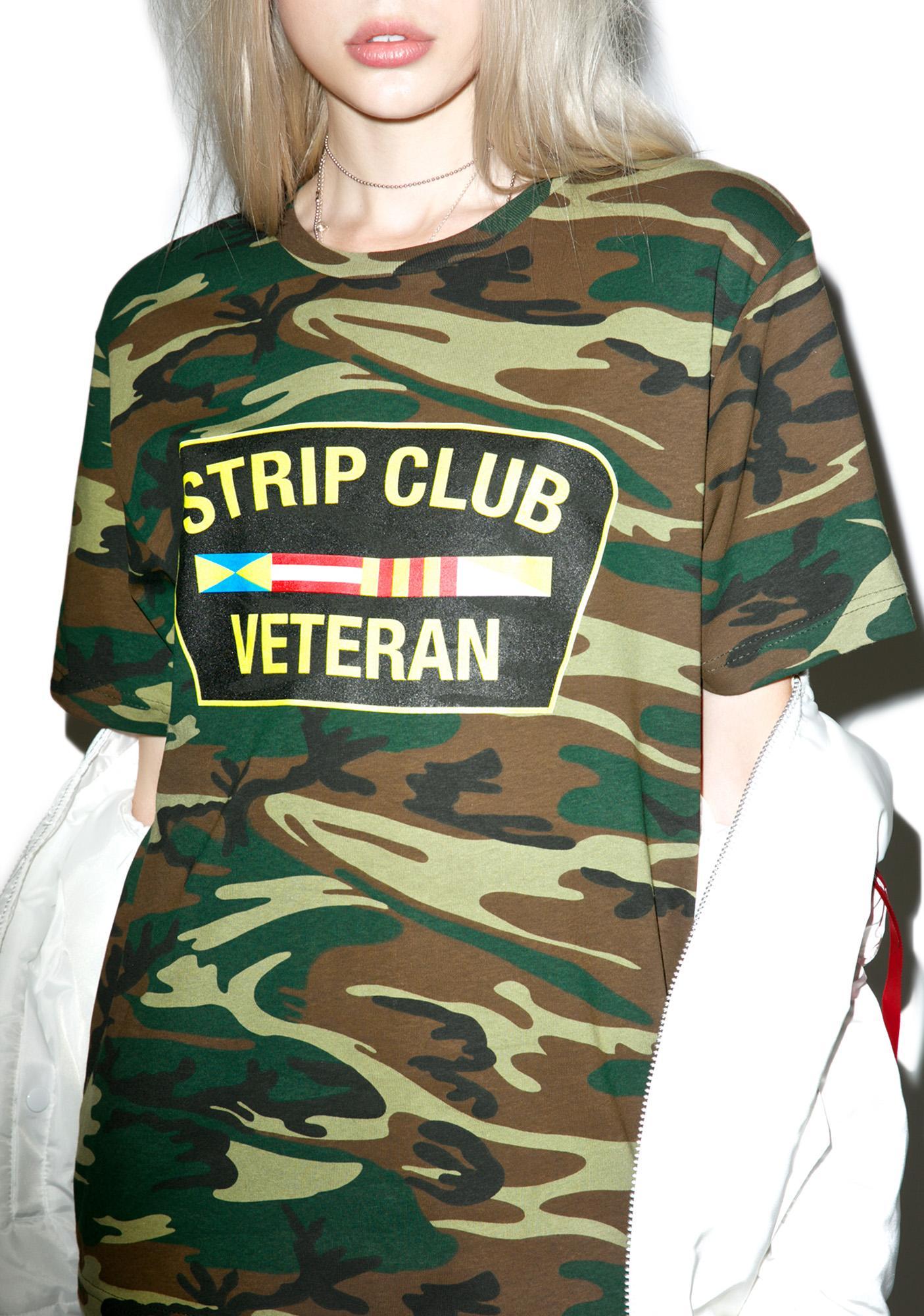 Reason Camo Strip Club Veteran T-Shirt