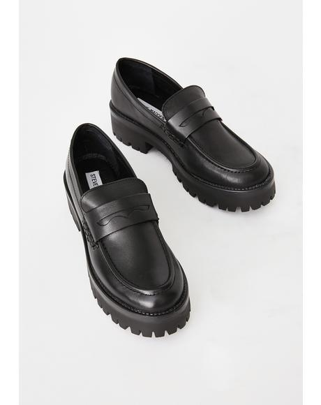 Crew Leather Loafers