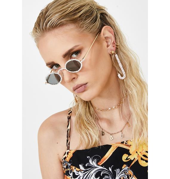Bling Baddie Safety Pin Earrings