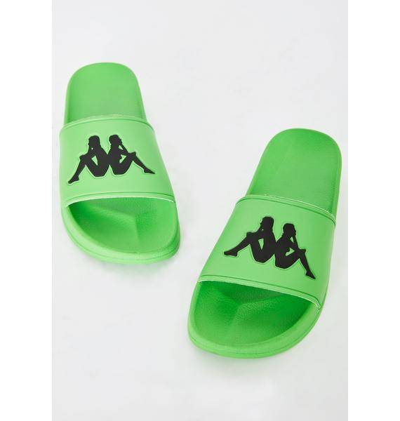 Kappa Green Authentic Adam 2 Slides