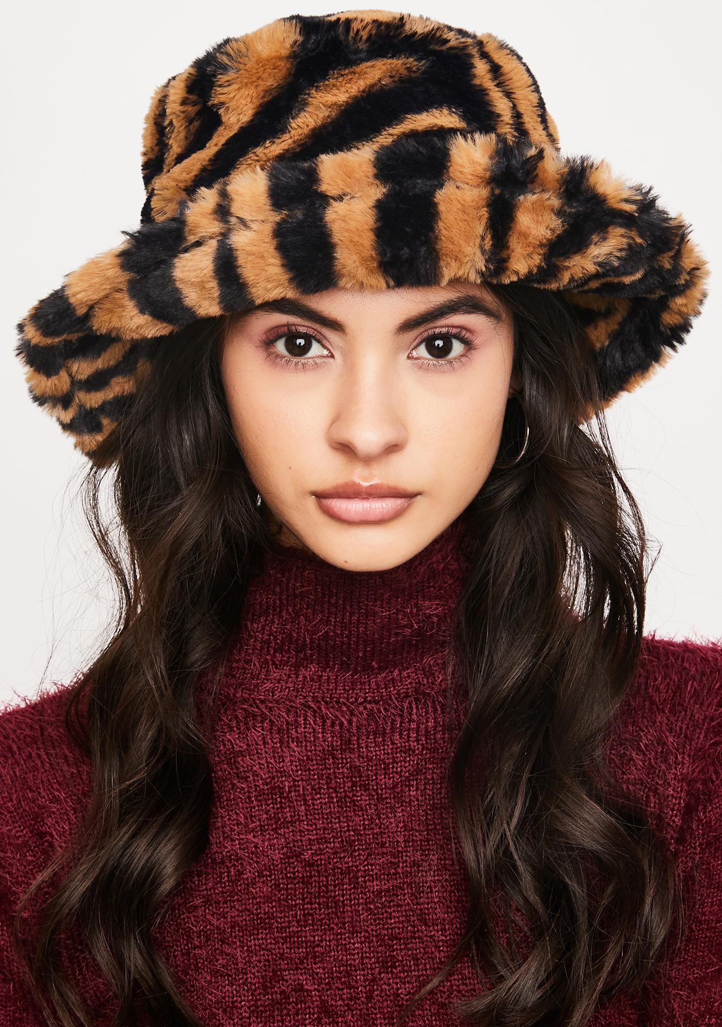 Tiger Juju Beats Furry Bucket Hat