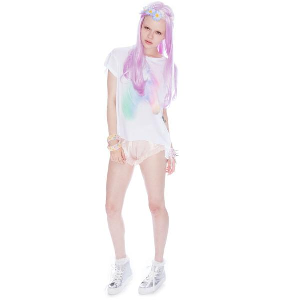 Wildfox Couture Horse and Rainbow Jagged Edge Tee