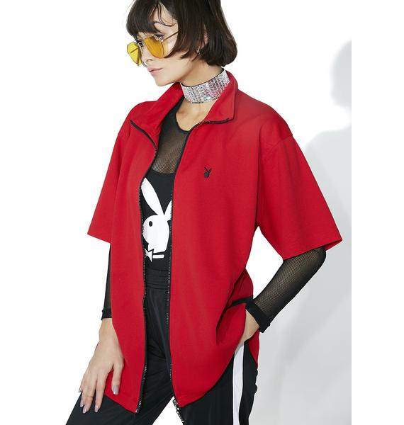 Vintage Playboy Zip-Up Long Jacket