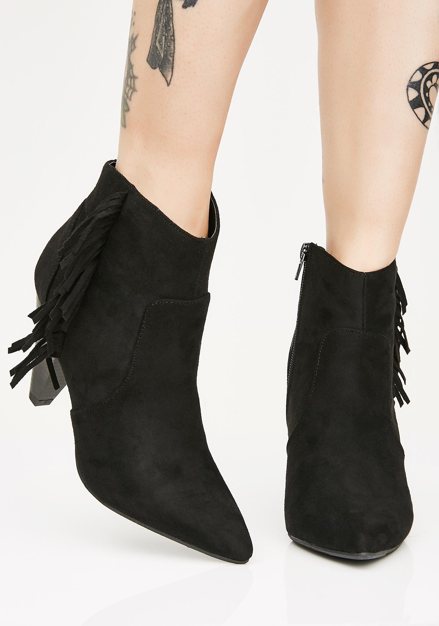 Bingin' On Fringe Ankle Boots