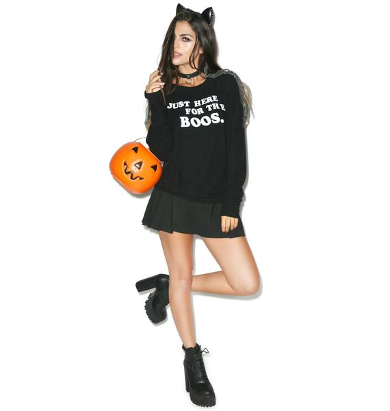 Wildfox Couture Just Here for the Boos Baggy Beach Jumper