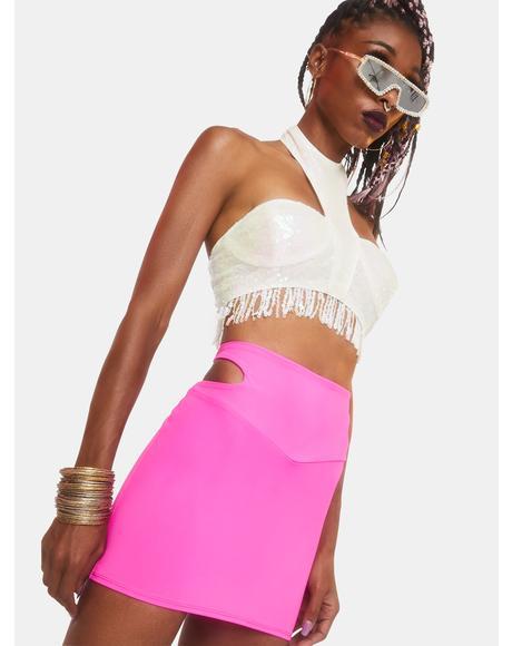 Solar Flair Sequin Bustier Top
