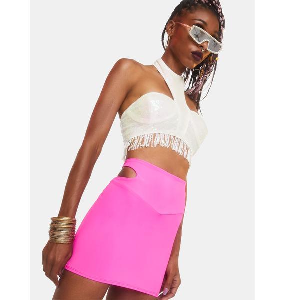 Club Exx Solar Flair Sequin Bustier Top