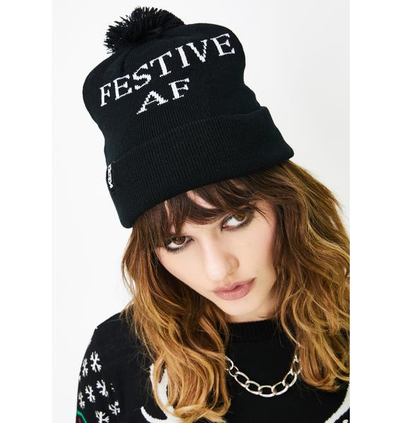 Festive AF Knit Beanie