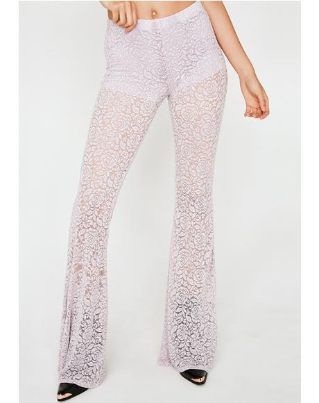 Amethyst Smokin' Flowers Lace Flares