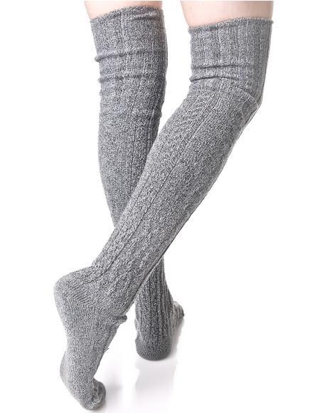 Ashe Thigh High Socks