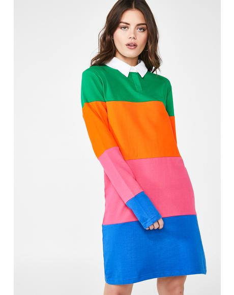 Colorblock Rugby Dress