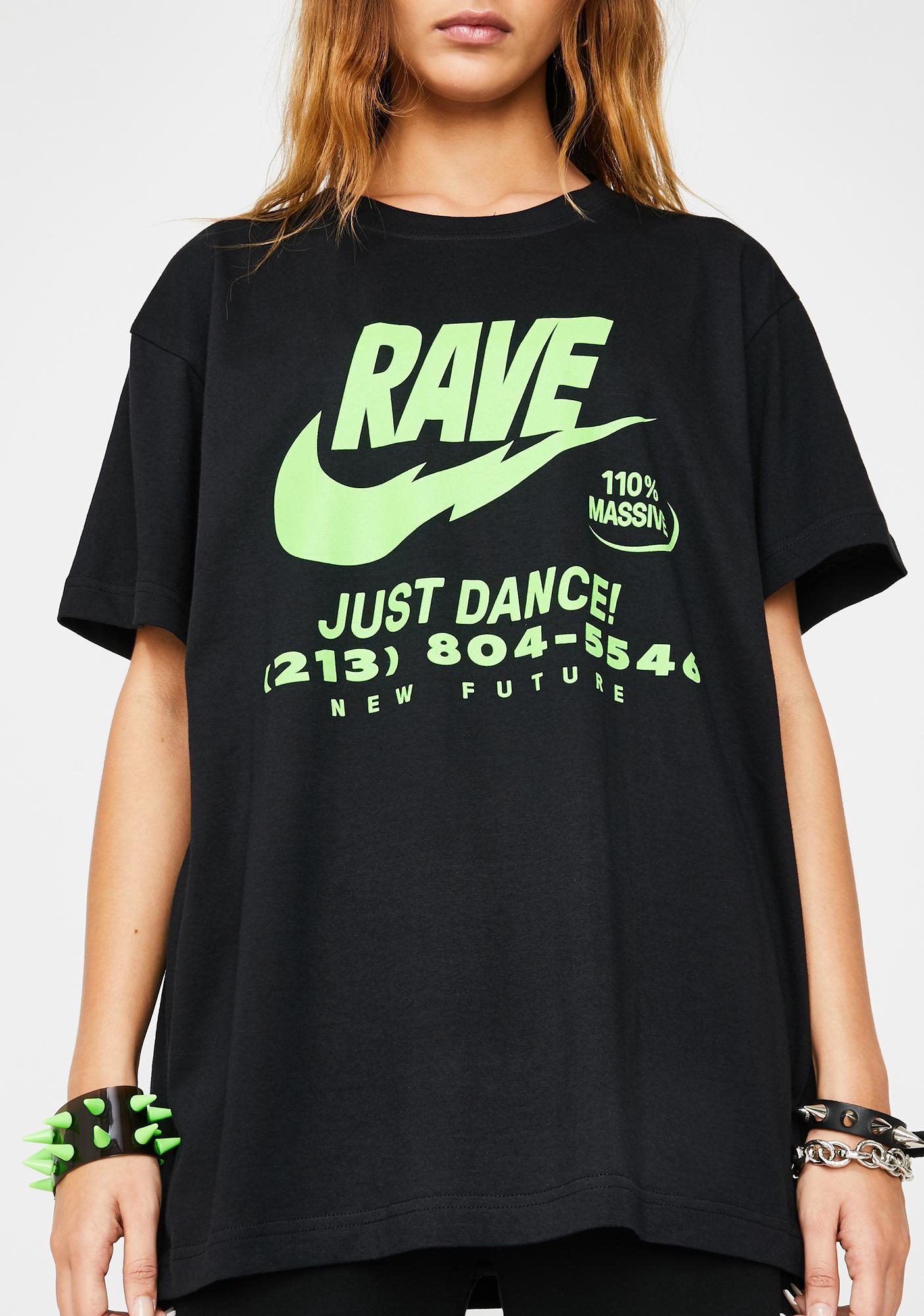 NEW FTR LDN Illegal Rave Graphic Tee