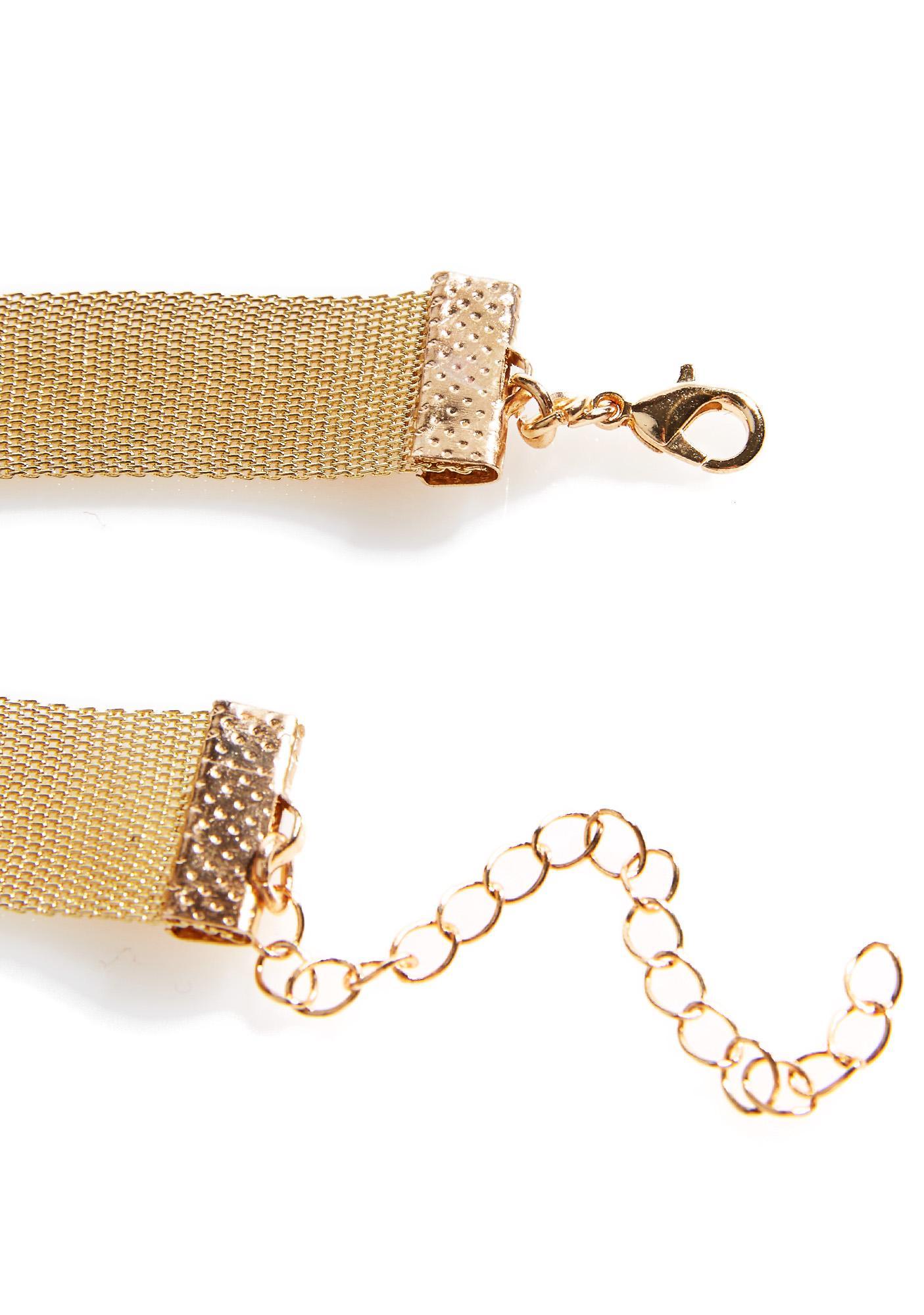 Golden Chainmail Choker