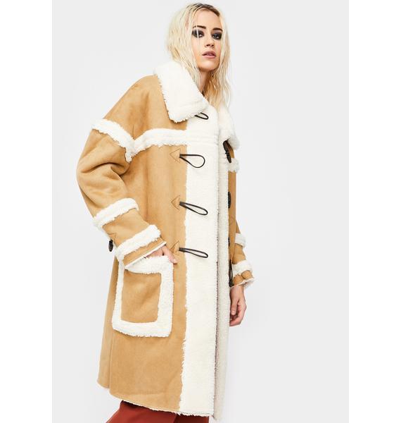Glamorous Sherpa Duffle Coat