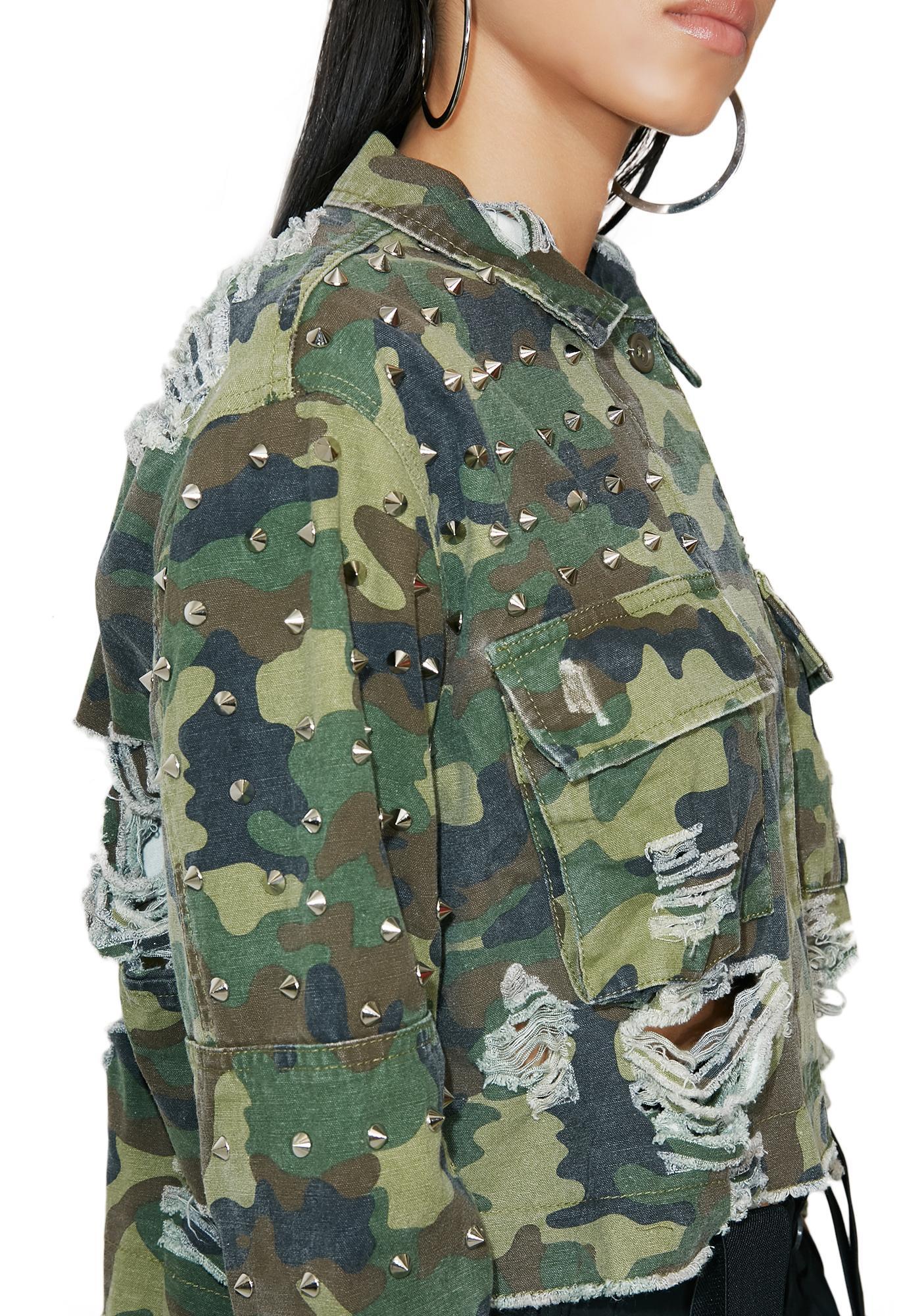 Mission Accomplished Studded Jacket